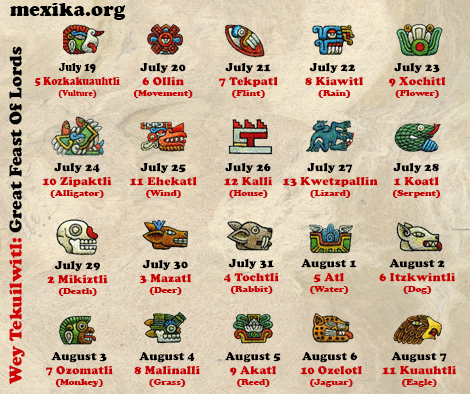 Wey Tekuilwitl: July 19 – August 7